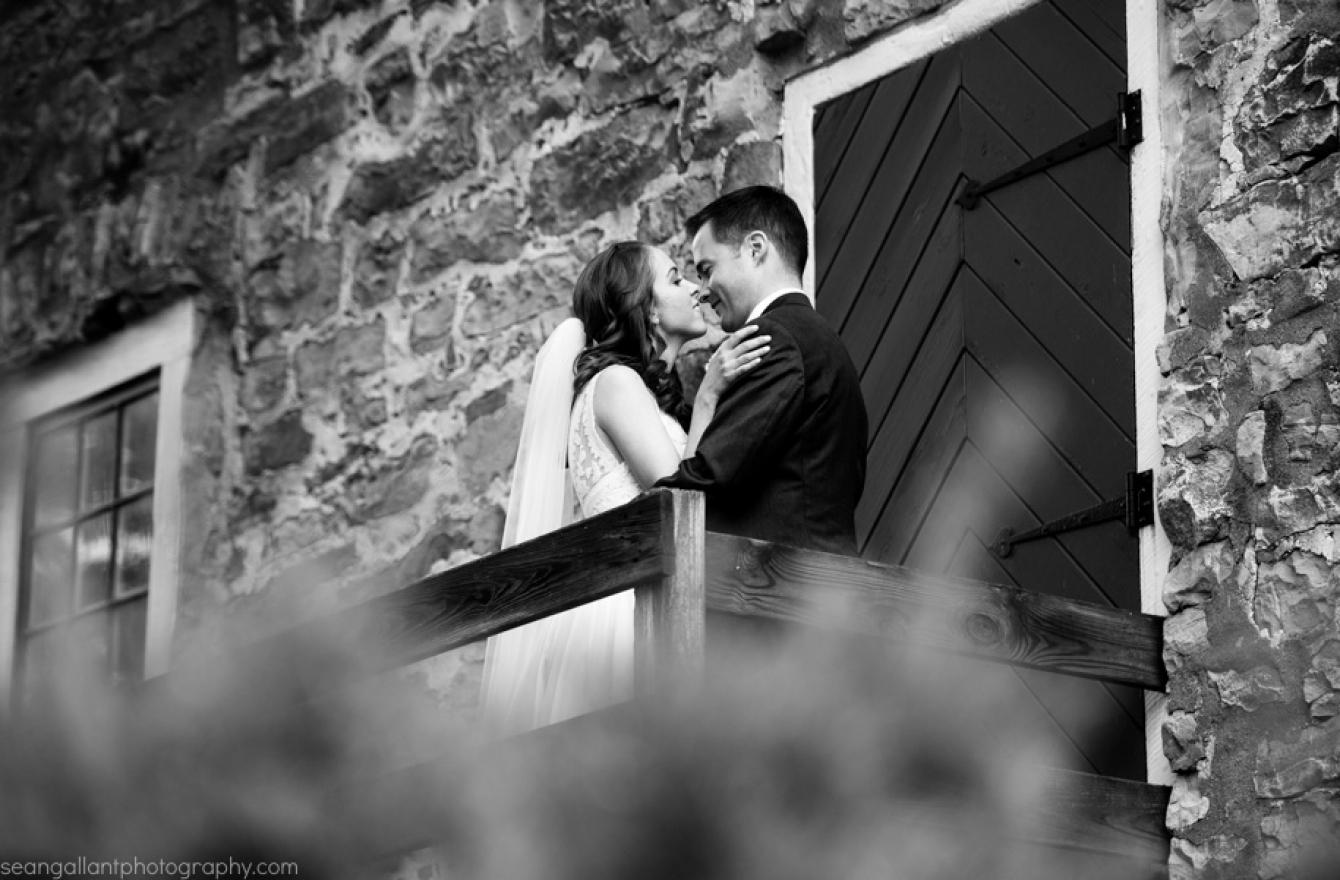 Sara & Mike at The Inn at Millrace Pond